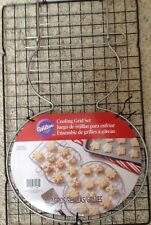 "WILTON~COOKIE~CAKE~BAKING~COOLING~GRID~RACK~16""x10""~NON STICK~SNOWMAN~CHRISTMAS"