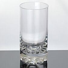 1 hohes Becher Glas schwerer Boden Bierbecher Wasserglas Saftglas klar