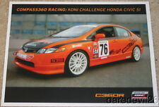 2009 Compass360 Racing Honda Civic SI ST Koni Challenge postcard
