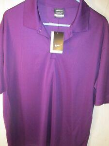 New XL Grape Colored NIKE GOLF Dri-Fit Pullover Polo Shirt-NWT