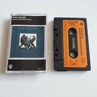 VAN HALEN WOMEN AND CHILDREN FIRST CASSETTE TAPE 1980 PAPER LABEL WARNER BROS