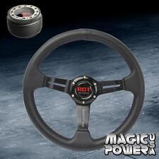 330mm Black Deep Dish Steering Wheel + Hub Adapter For Plymouth Laser 1995-1999