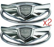 HYUNDAI GENESIS COUPE 2.0T TURBO 3.8 V6 CHROME WING EMBLEM LOGO (GRILLE+TRUNK)