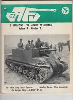 AFV-G2 Armor Military Magazine  1973 German 15CM   Bison SP Gun Indian Recce