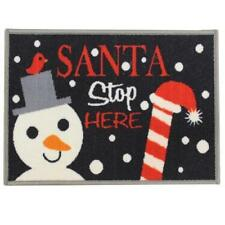 "door mat ""Stop Santa"" Christmas machine washable 40X60 cm floor entrance Xmas"