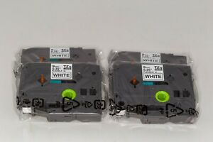 4 Pack Brother OEM TZe-FX221 Black on White 9 cm Flexible ID Label Tapes
