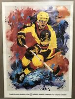 Ken Wesman Hockey Poster 1984 Esso Crippled Children Bright Colors Splatters