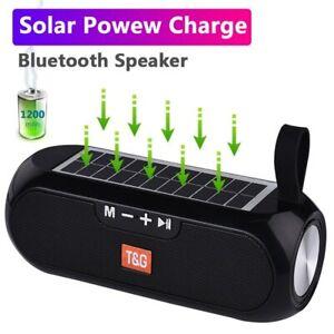 Solar power Portable Bluetooth Wireless Speaker Waterproof PowerBank Super Bass