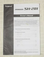 Roland SH-201 Owner's Manual