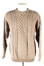 Carraig Donn Pullover Irischer Wollpullover Gr. XL