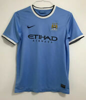 Boys Manchester City home football shirt size 13-15 years Nike 2014-2015