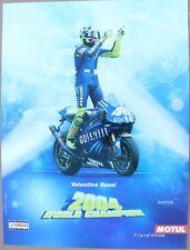 AFFICHE MOTO POSTER VALENTINO ROSSI WORLD CHAMPION 2004 MOTUL YAMAHA blue GP