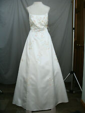 Vintage Prom Dress Formal Evening Gown Off White