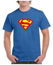 SUPERMAN T SHIRT SUPERHERO FUNNY COSTUME BLUE