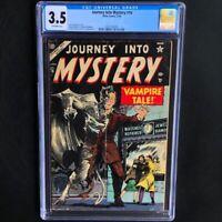 Journey into Mystery #16 💥 CGC 3.5 OW 💥 Rare Horror! Vampire Atlas Comics 1954
