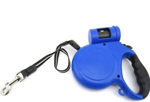 Retractable Dog Pet Leash / Waste Bag Holder Up to 88 lbs 16.5' Feet Rope Lead