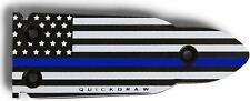 QuickDraw - Blue Line - Gun Magnet Mount Holster Holder Handgun Fast Glock