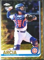 2019 Topps Chrome Francisco Arcia RC Rookie Gold Refractor /50 Chicago Cubs #30