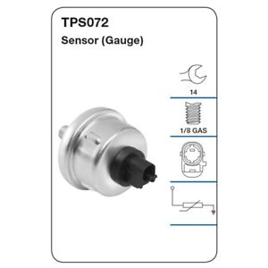 Tridon Oil Pressure Sensor TPS072 fits Toyota Hilux 3.0D 4x4 (KZN165R) 87 kW