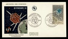 Dr Who 1965 Comoro Islands Fdc Uit Echo Ii Space Cachet f78750