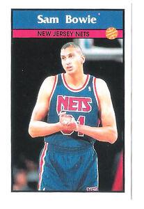 Sam Bowie 1992-93 New Jersey Nets Basketball Italian Panni Sticker card