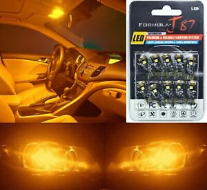Canbus Error LED Light 194 Orange Amber Ten Bulbs Interior Dome Replacement Fit