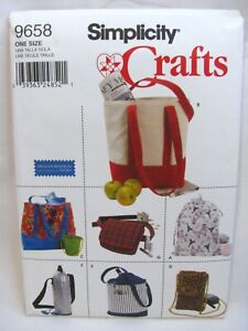 Simplicity 9658 Sewing Pattern Bags Tote Wine Bottle and Cell Phone Holder Uncut