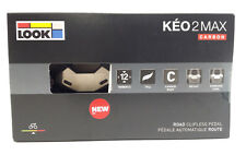 2018 LOOK KEO 2 Max CARBON Road Cycling Pedals & Gray Grip Cleats/Bolts