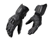 MEN MOTORCYCLE BIKER RIDING 100% COW LEATHER SM-BLADE GLOVES
