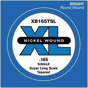 D'Addario XB165TSL Nickel Wound Tapered Bass Single String .165 Super Long Scale
