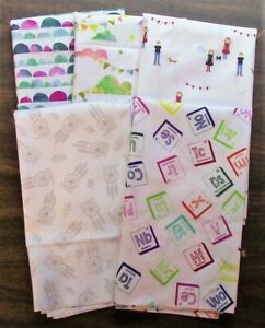 5 Half Yard Cuts – Novelty Mix Lot 1 - Quilting, Sewing, 100% Cotton E3201