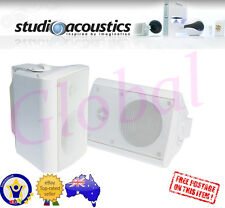 "Studio Acoustics SA500W 4"" 2-Way Indoor/Outdoor Universal Speakers (White)"