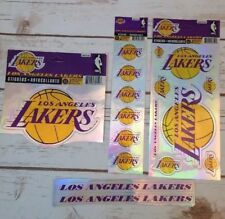 Nba Los Angeles Lakers Auto Decals/stickers Basketball Lot 1