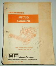 Massey Ferguson Mf 750 Combine Parts Catalog Manual Book Original 189
