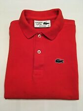 Boy's Lacoste Polo Shirt - Long Sleeve - 100% Cotton - Coral - Size 6