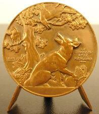 Medaille der Rabe et le Fuchs Fabel John von der Brunnen 40mm Vernon Medaille