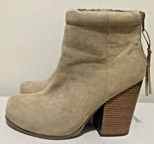 Rare Size AU 6 / EUR 37 Women's Suede Back Zip Massive Chunky Heel Ankle Boots