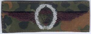 Bundeswehr Fallschirmspringerabzeichen für Felduniform Stufe Silber -Stoff