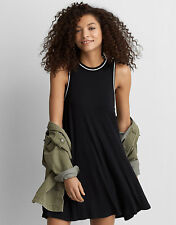 AMERICAN EAGLE OUTFITTERS Women's Soft High Neck Swing Shift Dress M Black NWT