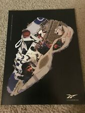 Vintage 1997 REEBOK ALLEN IVERSON THE QUESTION Basketbal Shoes Poster Print Ad