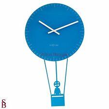 Nextime Flying Time Wall Clock-Entièrement neuf dans sa boîte-Blue-Hot Air Balloon-Magnificent Men