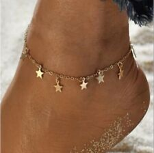 Adjustable Ankle Bracelet Gold Star Fully