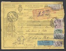 STORIA POSTALE REGNO 1926 Pacchi Postali 2,50L da Palermo a Tour de Peilz (E7)