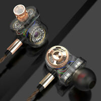 6 Driver Earphone Wired Surround Sound Headphone Monitor Bass Earbuds Headset