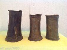 Trois Bracelets _ Manchettes en Bronze Africain .