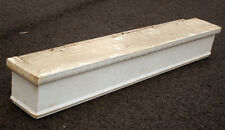 "36"" Antique Vintage Old Wood Wooden Window Valance Curtain Box Cover Pediment"
