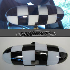 Mini Cooper r50 r52 r53 interior espejo checkered Flag-para espejo con palanca de plegado