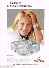 PUBLICITE ADVERTISING 065  2006  OMEGA  montre SPEED MASTER  ANNA KOURNIKOVA