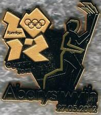 2012 London Olympic Torch Relay Alberystwyth Games Mark Pin