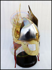 Medieval Knight Viking Spectacle Winged Norman Helmet Adult Size Fully Wearable